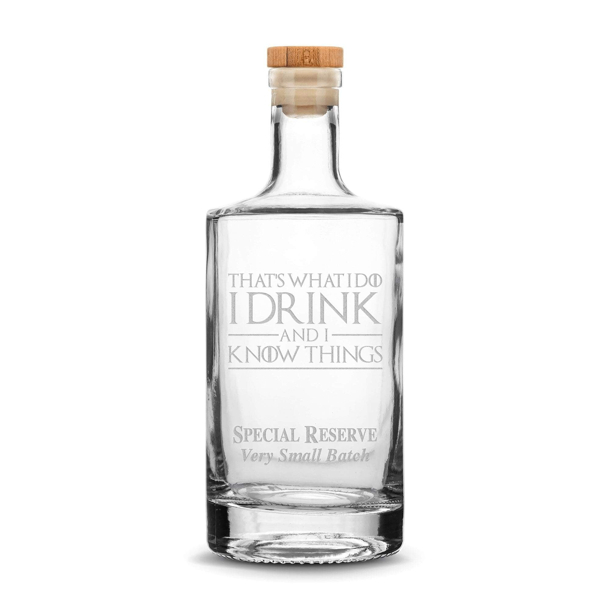 Premium Refillable Jersey Bottle, Game of Thrones, I Drink and I Know Things, 750mL Integrity Bottles