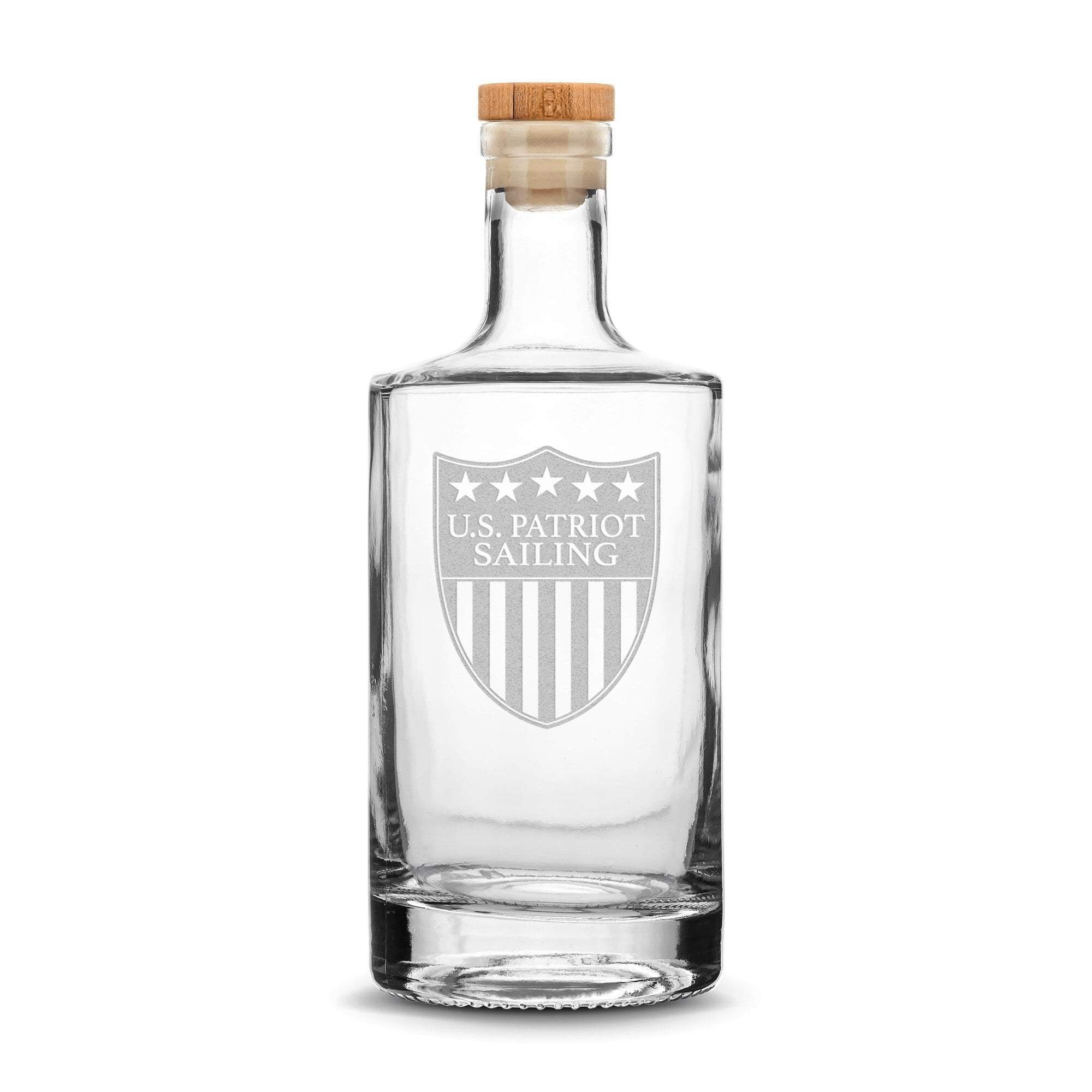 Premium Refillable Jersey Bottle, US Patriot Sailing Logo, 750mL Integrity Bottles