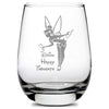 Premium Stemless Wine Glass, Happy Thoughts, 16oz by Integrity Bottles