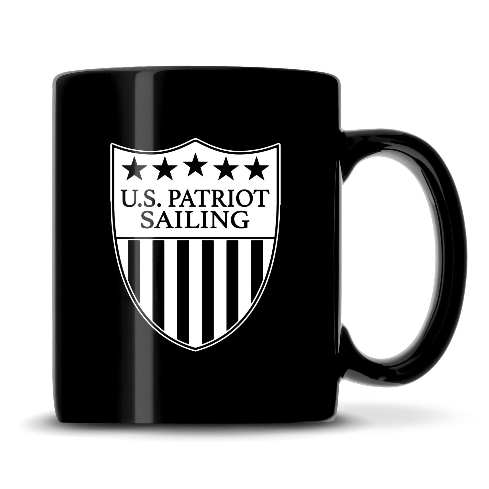 Premium US Patriot Sailing Coffee Mug, 15.3oz Deep Etched Coffee Cup, Made in USA by Integrity Bottles