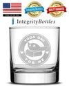 Premium Whiskey Glass, Mandalorian, Baby Yoda One For Me - Circle Logo, 11oz by Integrity Bottles
