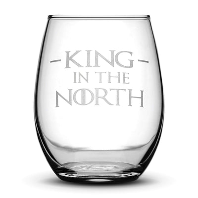 Premium Wine Glasses, Game of Thrones, I Drink and I Know Things, Mother of Dragons, King in the North, Hold the Door (Set of 4) Integrity Bottles