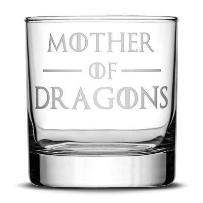 Set of 4, Premium Game of Thrones Whiskey Glasses, I Drink and I Know Things, Mother of Dragons, Hold the Door, God of Tits and Whiskey by Integrity Bottles