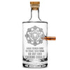 Silver Etch Premium .50 Cal BMG Bullet Bottle, Jersey Whiskey Decanter, Brojaq Sprocket, 750mL Integrity Bottles