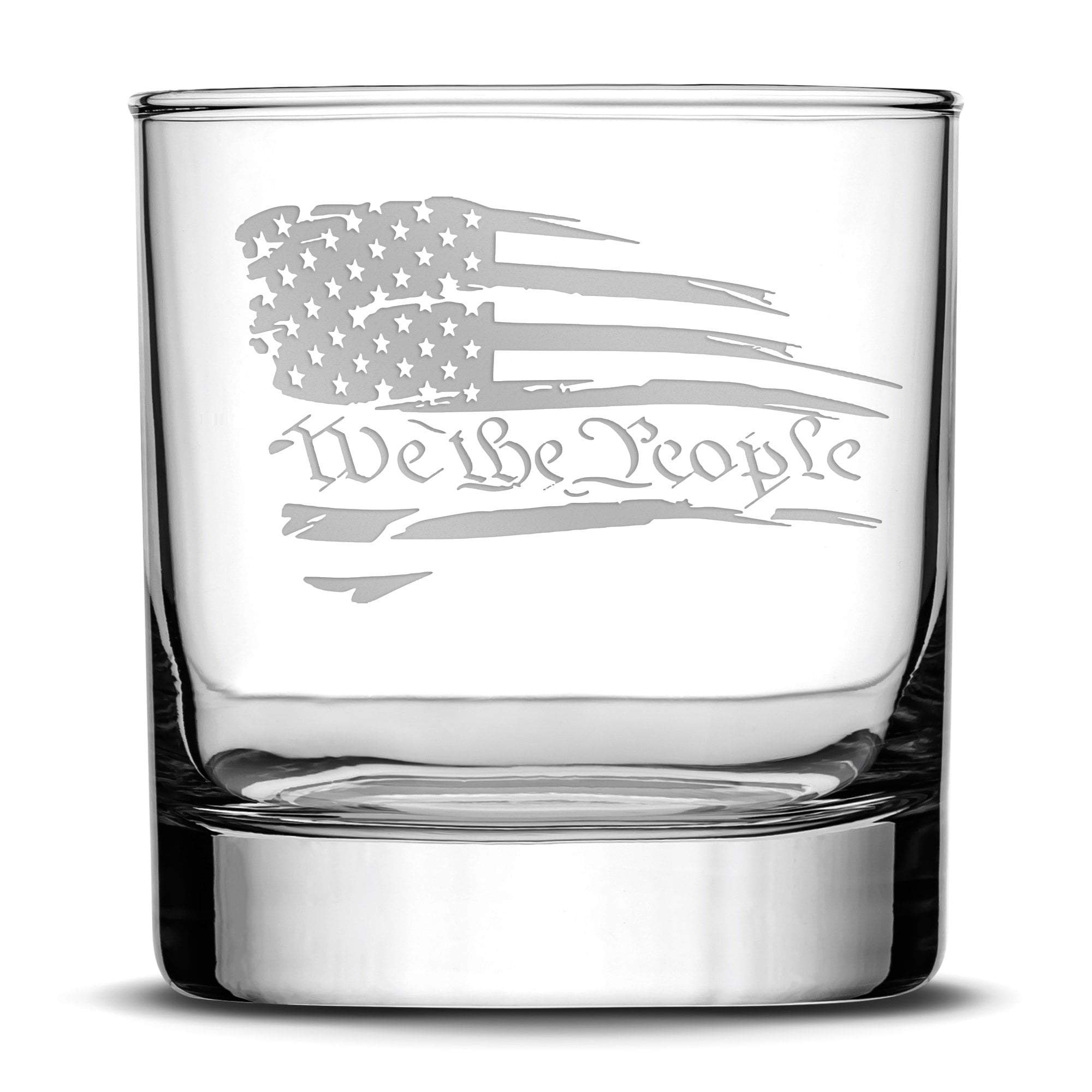 We The People Whiskey Rocks Glass, 10oz by Integrity Bottles