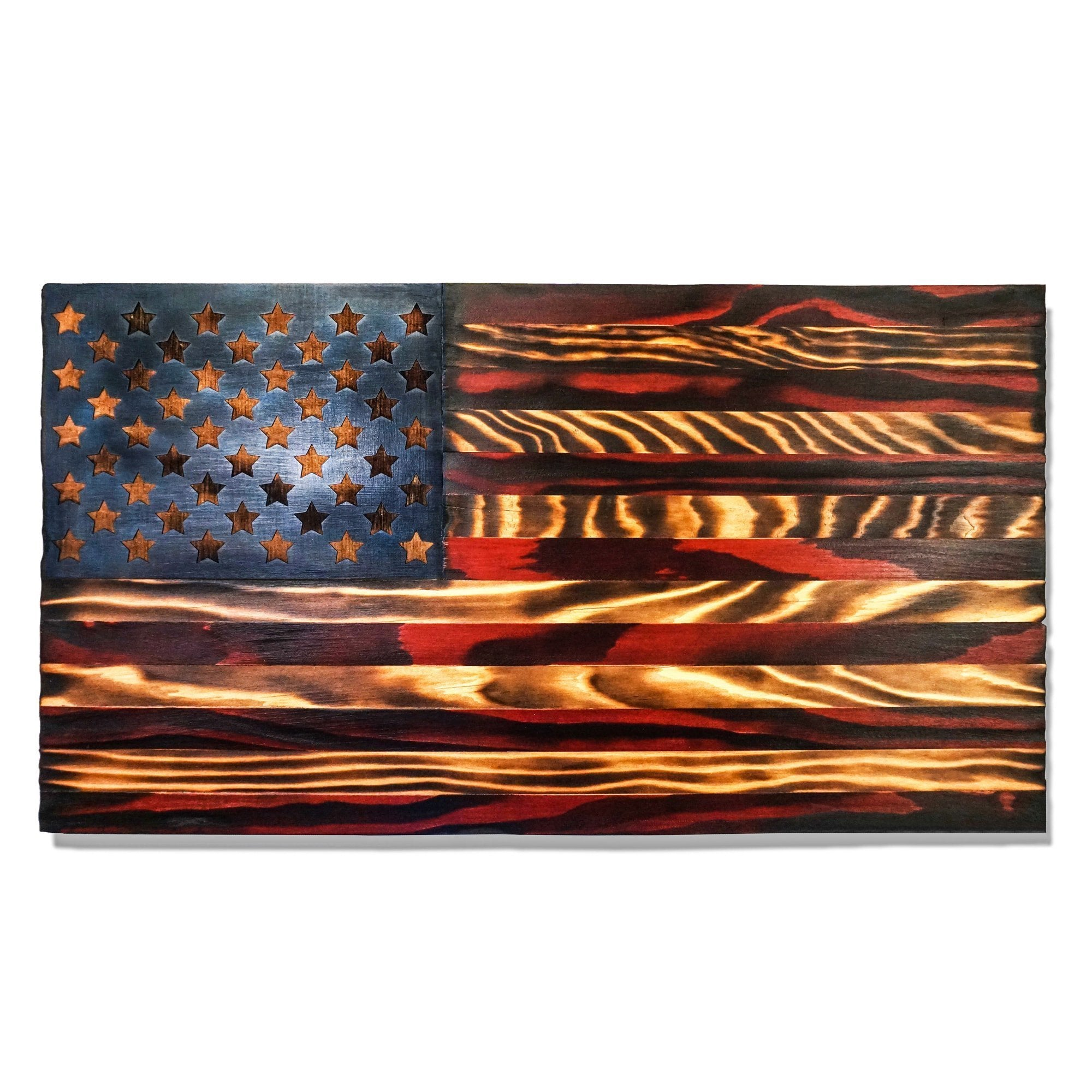 Wooden American Flag, Handmade in USA Integrity Bottles