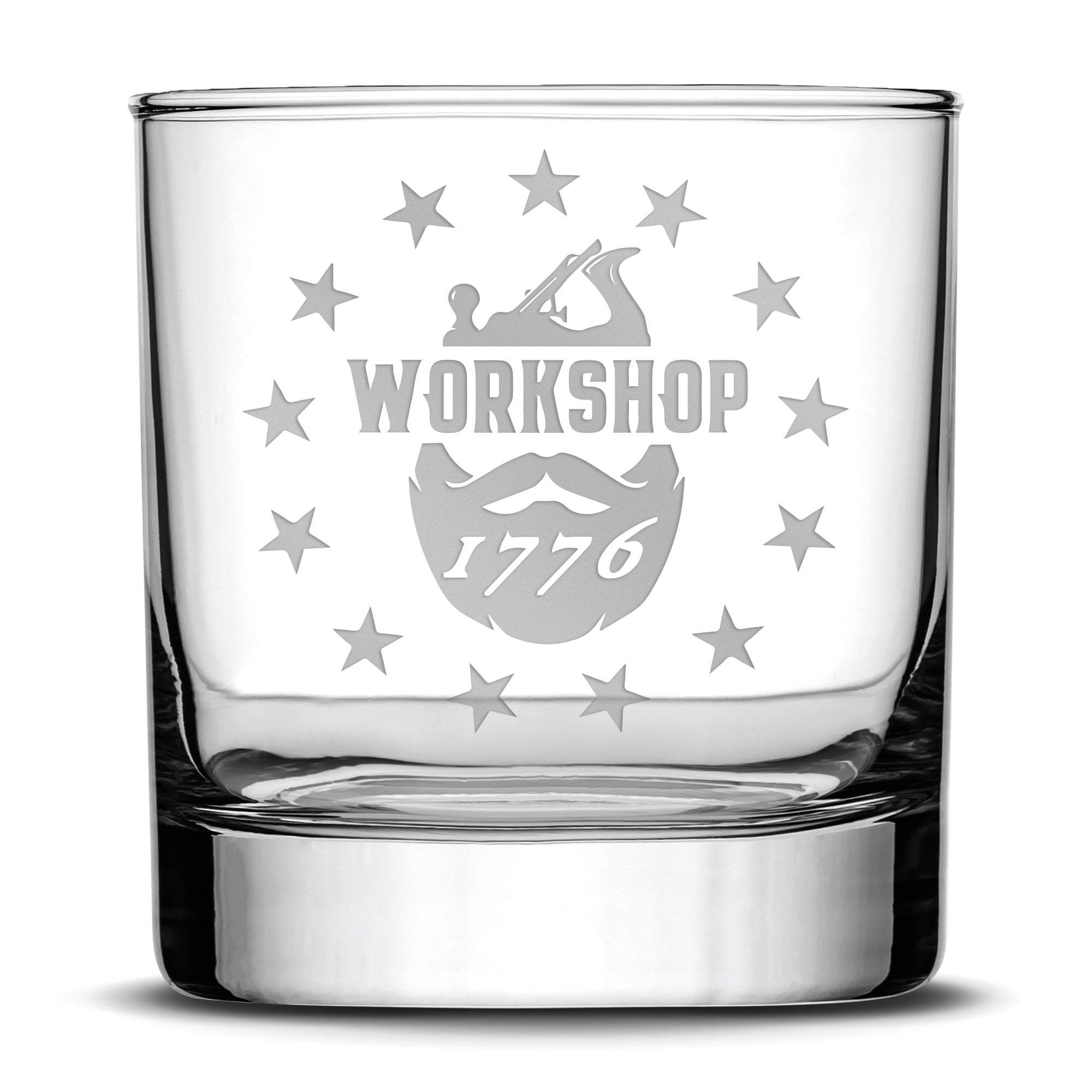 Workshop 1776 Whiskey Rocks Glass, 10oz by Integrity Bottles