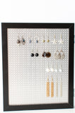 8x10 Double Framed Earring Organizer - Black
