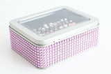 Tin Jewelry Box - Lt. Pink Dazzled Ribbon - Extra Insert