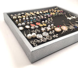 Silver Jewelry Tray - Black Foam