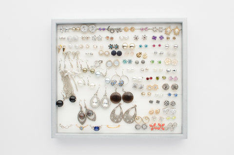 Silver Jewelry Tray - White Foam