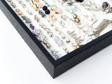 Black Jewelry Tray -  White Foam