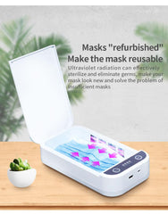 UV Light Sanitizer Box For Mobile Phones Masks Wallets Credit Cards Keys & more  New