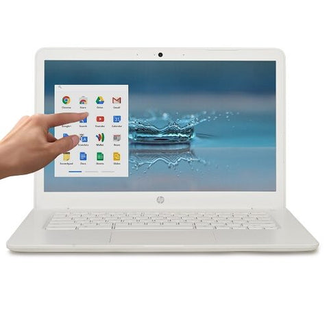 HP Chromebook 14 Touchscreen Dual-Core A4-9120 2.2GHz 4GB 32GB eMMC (White) (2019) - A