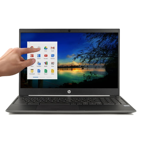 "HP Touchscreen Chromebook 15-de0021cl Dual Core i3-8130U 2.2GHz 4GB 128GB SSD 15.6"" Chromebook Chrome OS (White) - A"