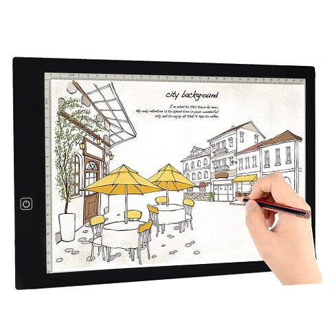 Creative Gift Artists Drawing, Sketching, Animation USB LED Tracing Light Box w/Power Adapter  Tikteck A4 New