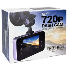 "Dash Cam 720p HD Night Vision, 2.4"" LCD Windshield Mounting"