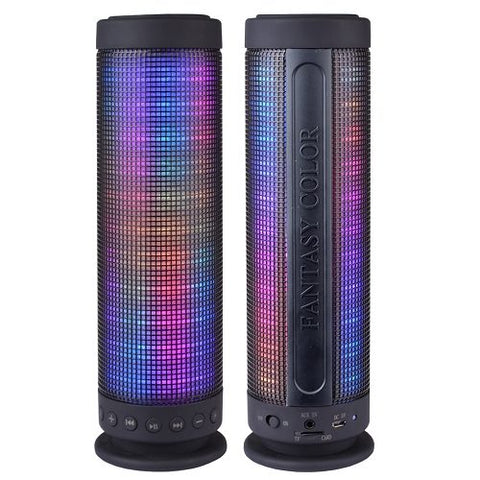 "New Color Dancing Portable Bluetooth Speaker (9.25"" Tall) w/LED Visual Equalizer"