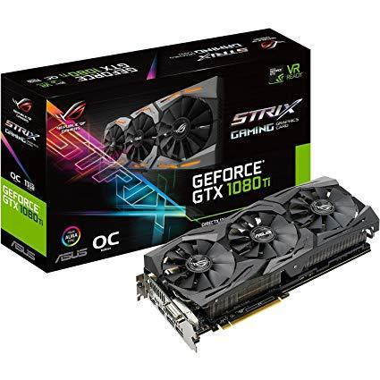New ASUS ROG-STRIX-GTX1080TI-O11G-GAMING GeForce 11GB OC VR Ready 5K Graphics Card