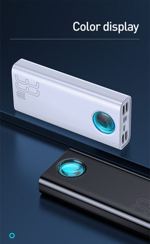 PowerBank 30000mAh Baseus Amblight QC Digital Display Baseus New