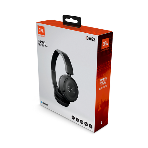 JBL T460BT Wireless On-ear Bluetooth Headphones with JBL Pure Bass Sound New