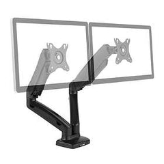 "Brateck Dual-Monitor Desk Mount Full Motion Flat & Curved LDT13-C024 13""- 27"" (2x 14.3 lbs) LCD/LED New"