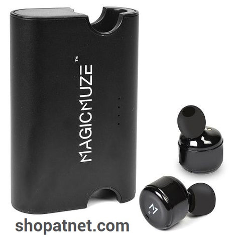 MagicMuze Elite Truly Wireless Stereo Earbuds w/Charging Case & 3 Sets of Ear Tips