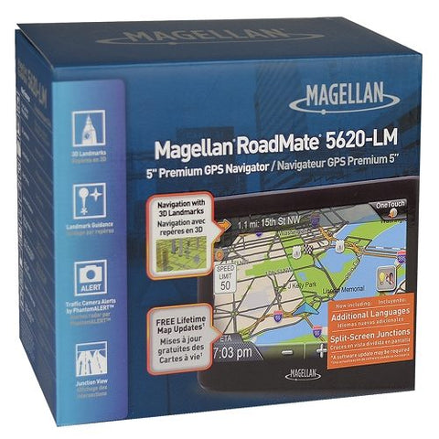 "Magellan RoadMate 5620-LM 5.0"" Touchscreen Portable GPS System"