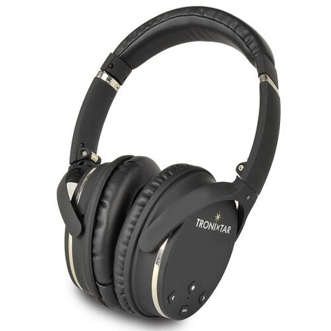 New TRONIXTAR TRX-ANC3 Active Noise Cancelling Wireless Bluetooth Over-Ear Headphones w/Carrying Case