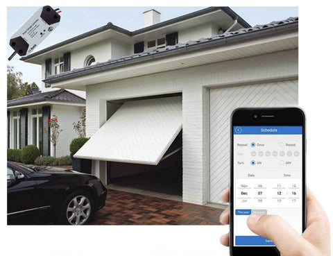 Wi-Fi Smart Garage Door Opener Works with App and with Voice Commands for Alexa and Google Home