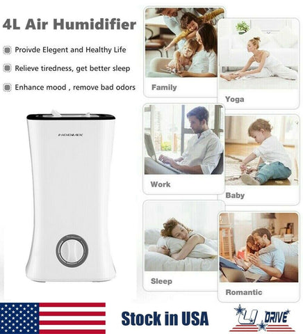 2020 best Gal Cool Mist Air Purifier Ultrasonic Humidifier Home Bedroom Office 1.2 Gallon New