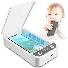 New UV Light Multifunction Sanitizer for SmartPhones Sunglasses Keys Wallets Toys - UV light to kill germs in minutes.