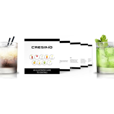 Cresimo 24 Ounce Cocktail Shaker Bar Set with Accessories New