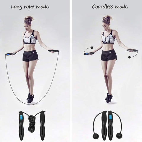 New Smart Jump Rope without Rope & an Electronic Counter. A Great Fitness Gift For Indoors