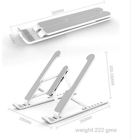 Ski Style Adjustable Laptop Stand for Apple Dell HP Laptops Ergonomic Efficient Prevents overheating