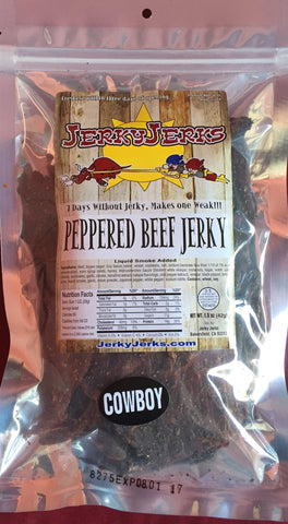 COWBOY STYLE PEPPERED JERKY 8oz