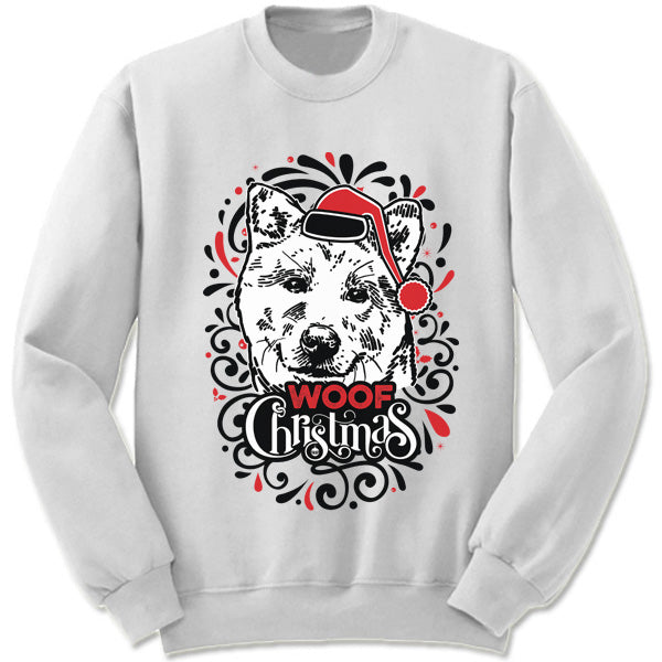 Akita Ugly Christmas Sweater.