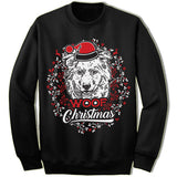Australian Shepherd Ugly Christmas Sweater.