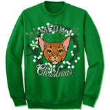 Abyssinian Cat Ugly Christmas Sweater.
