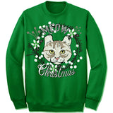 American Curl Cat Ugly Christmas Sweater