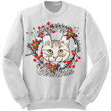 American Curl Cat Ugly Christmas Sweater.