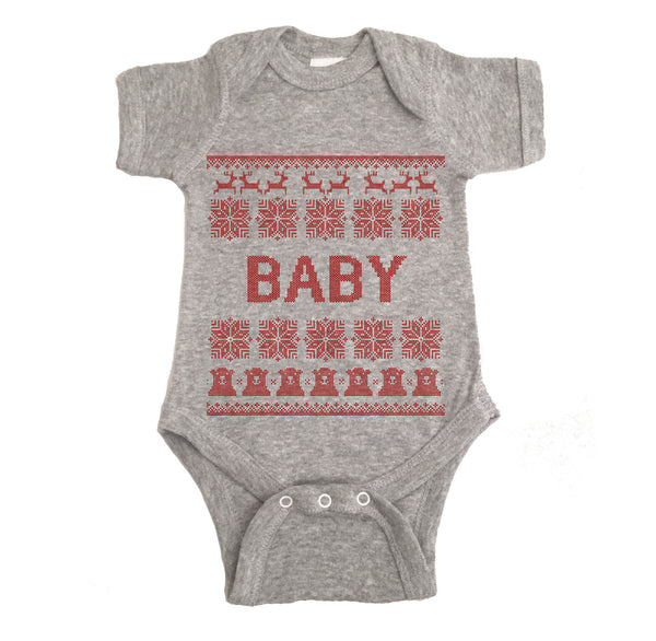 Baby Ugly Christmas Onesie.