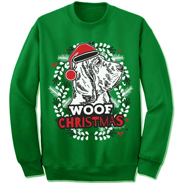 Bloodhound Ugly Christmas Sweatshirt