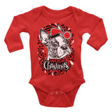 Boston Terrier Dog Ugly Christmas Onesie.