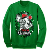 Boston Terrier Ugly Christmas Sweater.