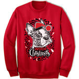 Boston Terrier Ugly Christmas Sweatshirt