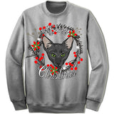 Bombay Cat Ugly Christmas Sweater.