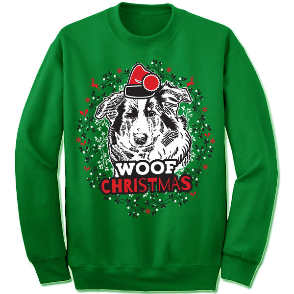 Collie Ugly Christmas Sweater
