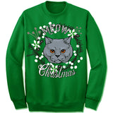 Chartreux Ugly Christmas Sweater
