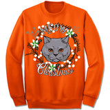 Chartreux Cat Ugly Christmas Sweater.
